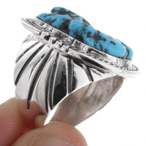 Navajo Turquoise Sterling Mens Ring 24982