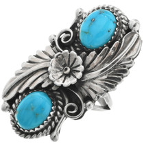 Native American Kingman Turquoise Ring 26996