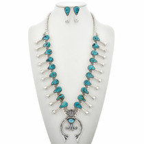 Turquoise Squash Blossom Necklace Set 29416
