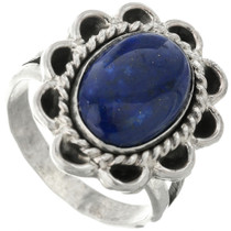 Blue Lapis Silver Ring 28613