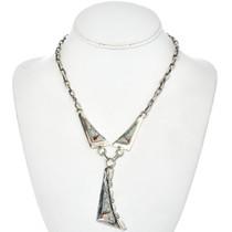 Inlaid Coral Opal Y Necklace 15172