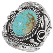 Navajo Turquoise Mens Ring 25272