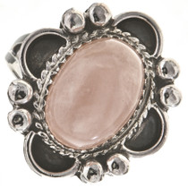 Pink Quartz Silver Ladies Ring 28683