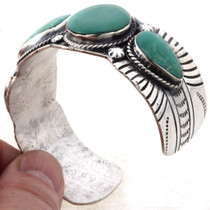 Turquoise Silver Cuff Bracelet 24936