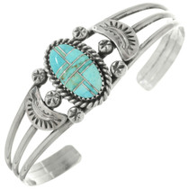 Ladies Inlaid Turquoise Navajo Bracelet 23297