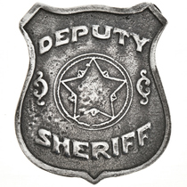 Deputy Sheriff Western Badge 29001