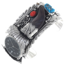 Bear Claw Turquoise Silver Mens Watch 27785
