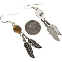 Navajo Gemstone Dangle Earrings 29403