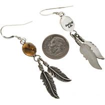 Navajo Gemstone Dangle Earrings 29403