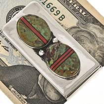 Southwest Indian Turquoise Money Clip 23920