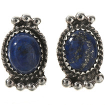 Lapis Sterling Stud Earrings 28863