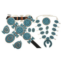 Navajo Queen Concho Belt Set 28694