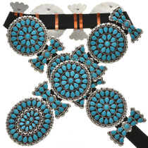 Navajo Turquoise Cluster Concho Belt 258694