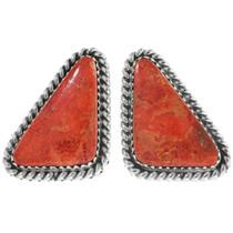 Apple Coral Navajo Earrings 28573