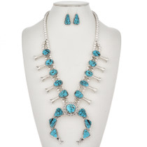 Squash Blossom Necklace Set with Earrings