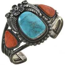 Turquoise Silver Coral Bracelet 28648