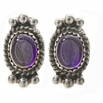 Navajo Amethyst Stud Earrings 28860