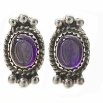 Navajo Amethyst Stud Earrings 28860