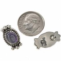 Silver Drops Twist Wire Post Earrings 28860