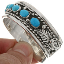 Navajo Turquoise Sterling Cuff 27552