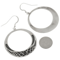 Silver Navajo French Hook Earrings 27008