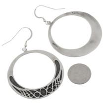 Silver Navajo French Hook Earrings 27008