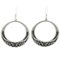 Native American Circle Open Hoop Earrings 27008