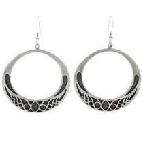 Native American Circle Open Hoop Earrings 27008