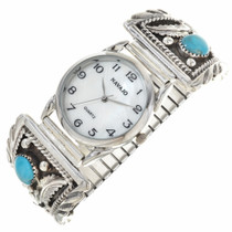 Mens Turquoise Silver Watch 23849