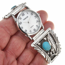 Sleeping Beauty Turquoise Navajo Watch 23849