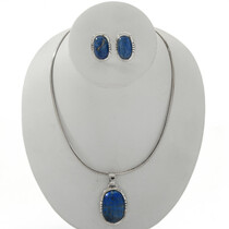 Denim Lapis Pendant Earrings 27736