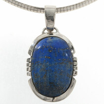 Denim Lapis Silver Pendant Necklace 27736
