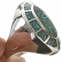 Navajo Inlaid Silver Ring 25514