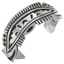 Overlaid Sterling Tribal Cuff Bracelet 29719