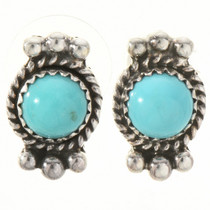 Turquoise Silver Stud Earrings 28840
