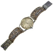 Vintage Gold Silver Navajo Mens Watch 29647