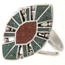 Turquoise Coral Ladies Ring 27160