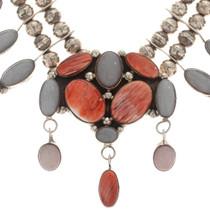 Spiny Oyster Lilac Onyx Navajo Jewelry 18419
