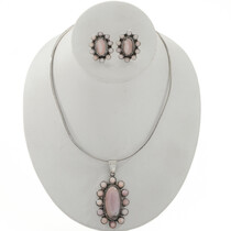 Pink Shell Cluster Necklace Set 27712