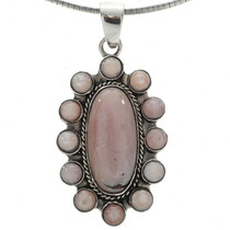 Pastel Pink Shell Cluster Necklace 27712