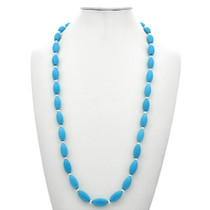Native American Turquoise Silver Necklace 29693