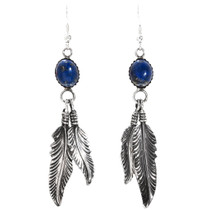 Lapis Feather Navajo Earrings 29401