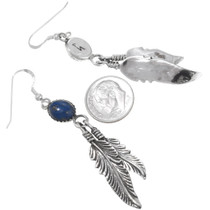 Native American Lapis Dangle Earrings 29401