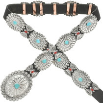 Navajo made Concho Black Belt 13841