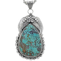Navajo Turquoise Silver Pendant 39669