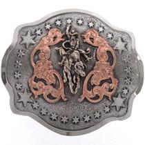 Copper Silver Gold Trophy Belt Buckle 21976