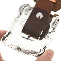 Santa Fe Hammered Silver Concho Belt 27952