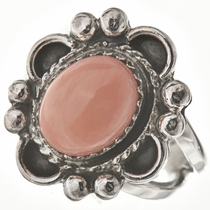 Angelskin Coral Silver Ladies Ring 28601