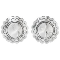 Navajo Silver Concho Post Earrings 20754