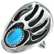 Turquoise Silver Navajo Ladies Ring 29749